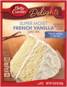 Super Moist French Vanilla Cake Mix