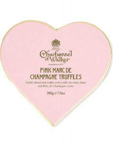 Pink Marc de Champagne Truffles Heart
