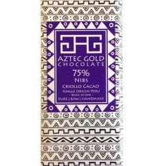 75% Criollo with Cacao Nibs Bar