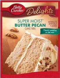 Super Moist Butter Pecan Cake Mix