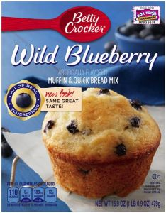 Wild Blueberry Box Muffin Mix