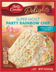 Super Moist Party Rainbow Chip Cake Mix
