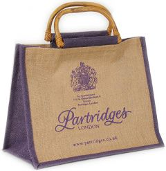 Jute Bag with Cane Handles