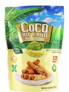 Durian Flavour Thai Jasmine Rice & Coconut Crispy Roll