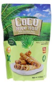 Pandan Flavour Thai Jasmine Rice & Coconut Crispy Roll