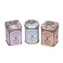 Floral Mini Tea Tin Gift With Loose-Leaf Tea