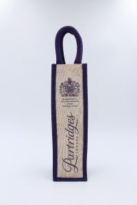 Jute Single Wine Bottle Bag