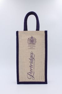 Jute Double Wine Bottle Bag