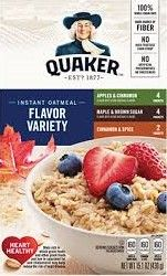 Instant Oatmeal - Flavor Variety