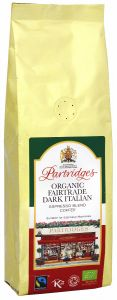 Partridges Organic Fairtrade Dark Italian Espresso Coffee
