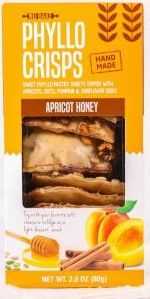 Apricot Honey Phyllo Crisps