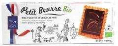 Organic Petit Beurre Avec Tablette De Chocolate Noir