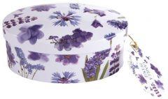 Purple Flowers Vanilla Fudge Tin