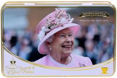 Queen Elizabeth II Tea Tin with 72 Teabag Selection