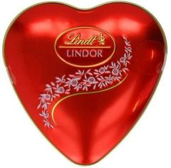 Lindt Lindor Milk Chocolate Truffles Heart Tin