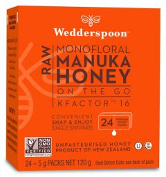 Wedderspoon Raw Manuka Honey K16 On the Go