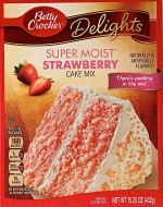 Super Moist Strawberry Cake Mix
